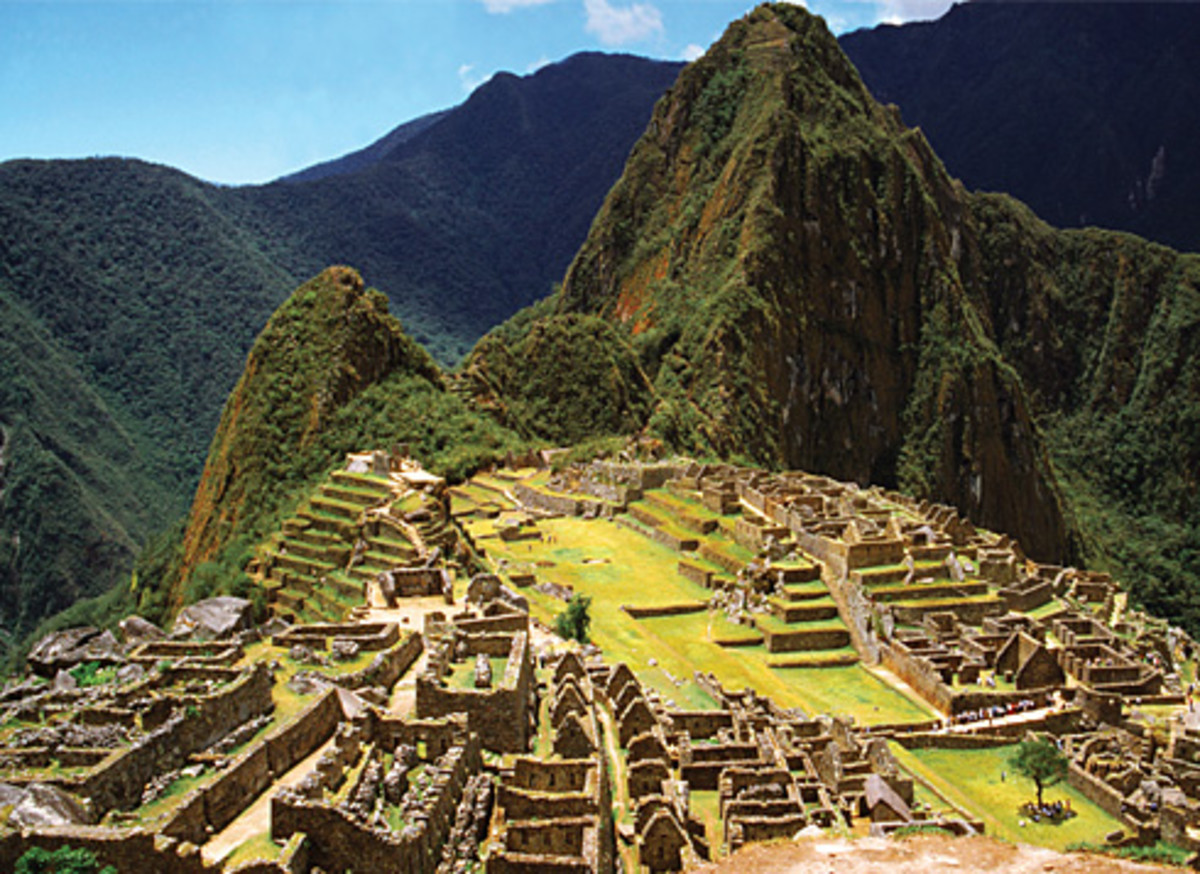 The ancient city of Macchu-Pichu, Peru