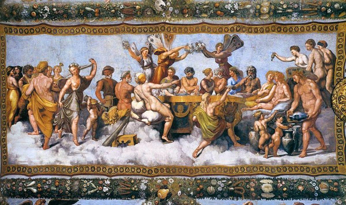 Wedding Banquet - Raphael (1483–1520) - PD-art-100