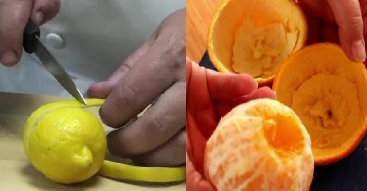 Use lemon and orange peels to ward off mosquitoes.