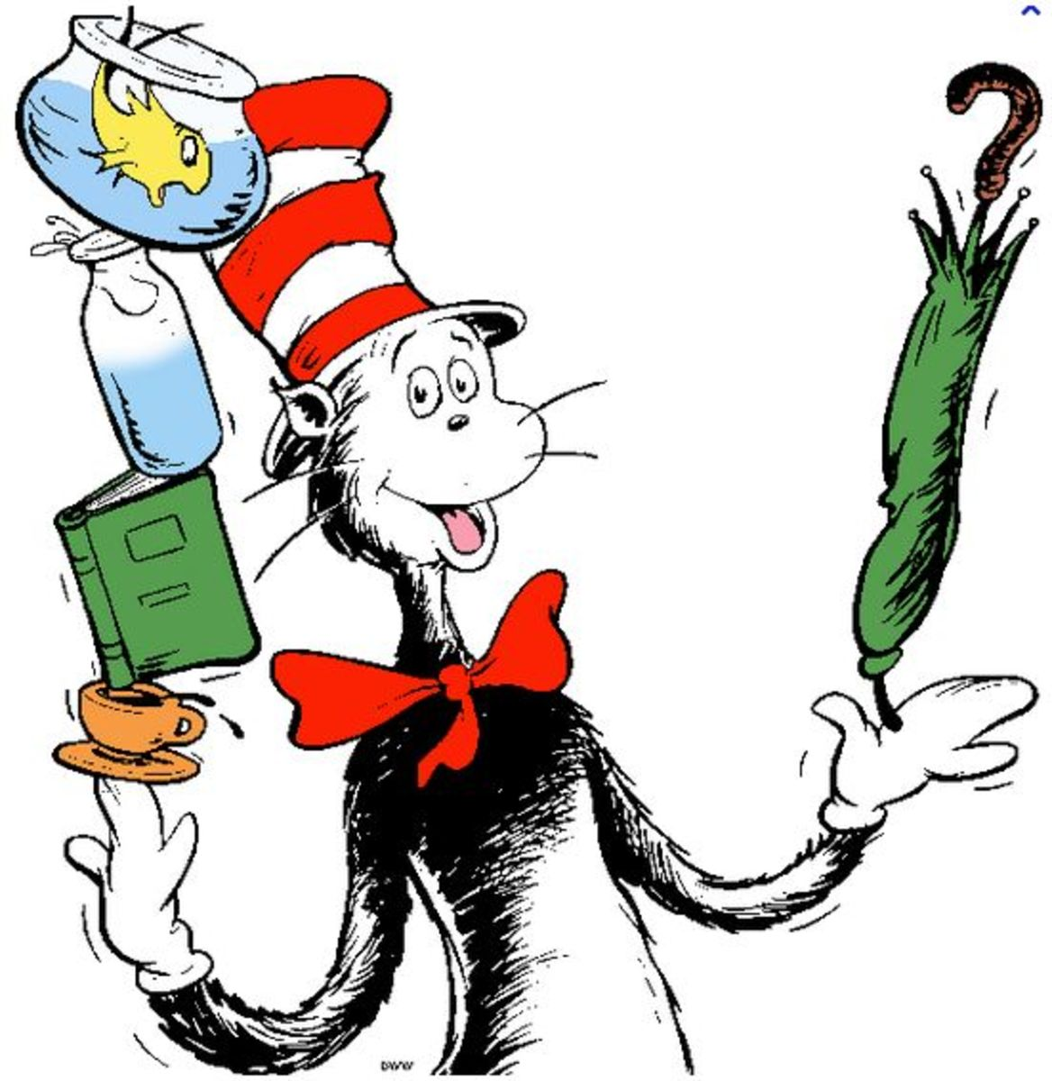 Dr. Seuss' iconic character, The Cat in the Hat.