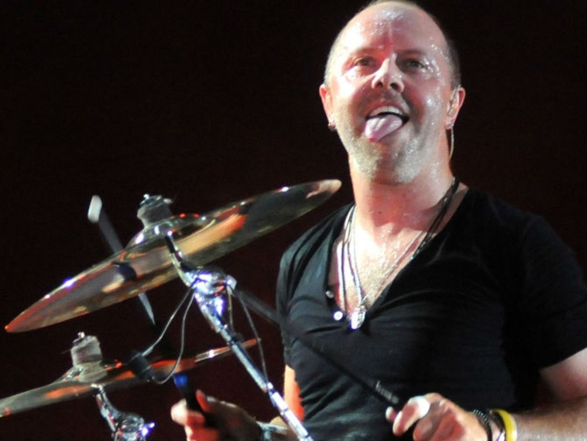 Metallica drummer Lars Ulrich - a hard man to get a one-on-one with...