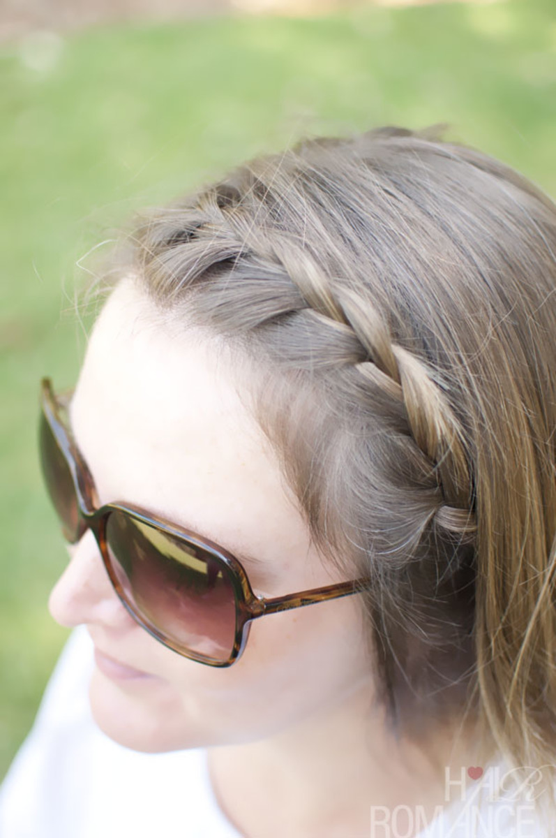 French braid headband hairstyle