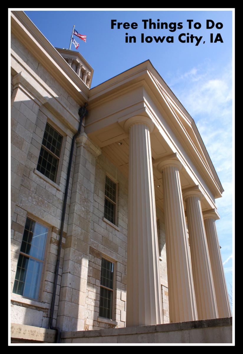the old Iowa Capitol in Iowa City, IA
