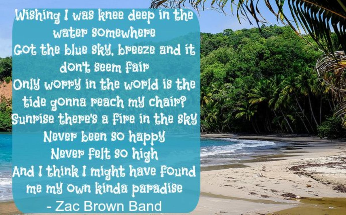 Some Relaxing Beach Lyrics (Images)