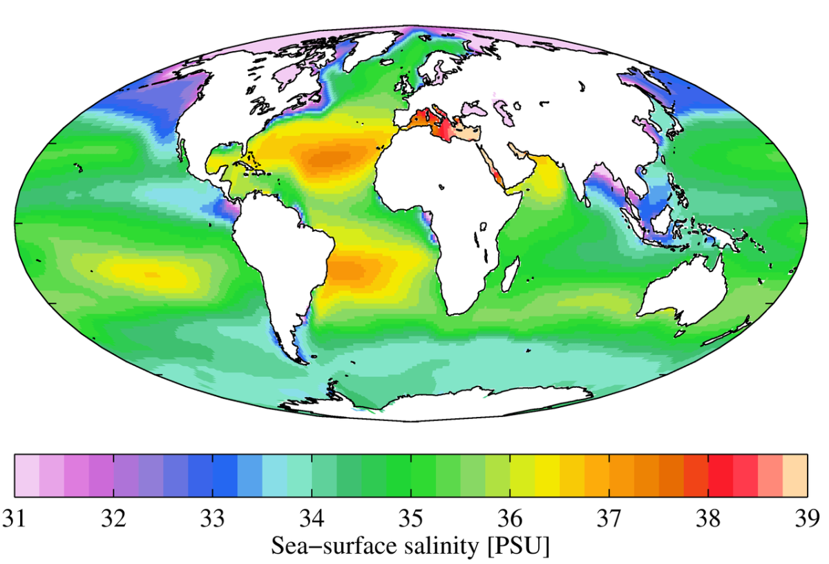 World Salinity Map