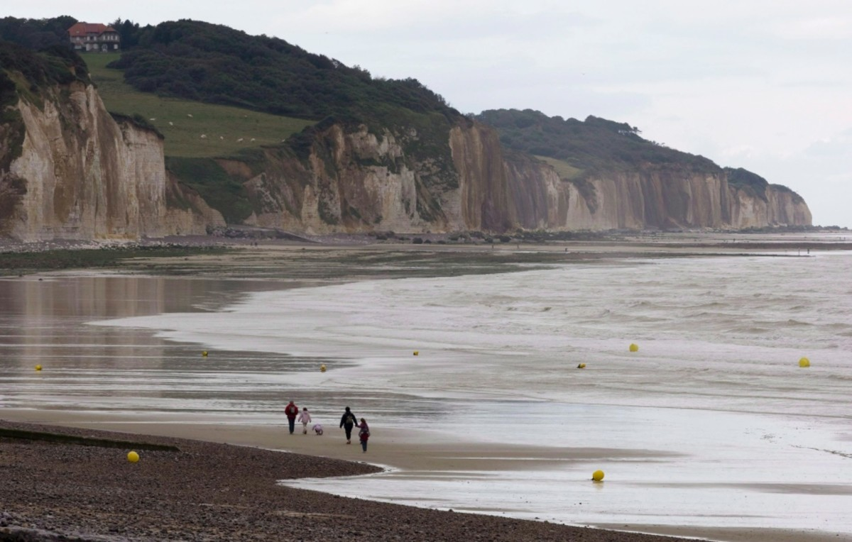 The cliffs at Pourville, 'Green Beach' today