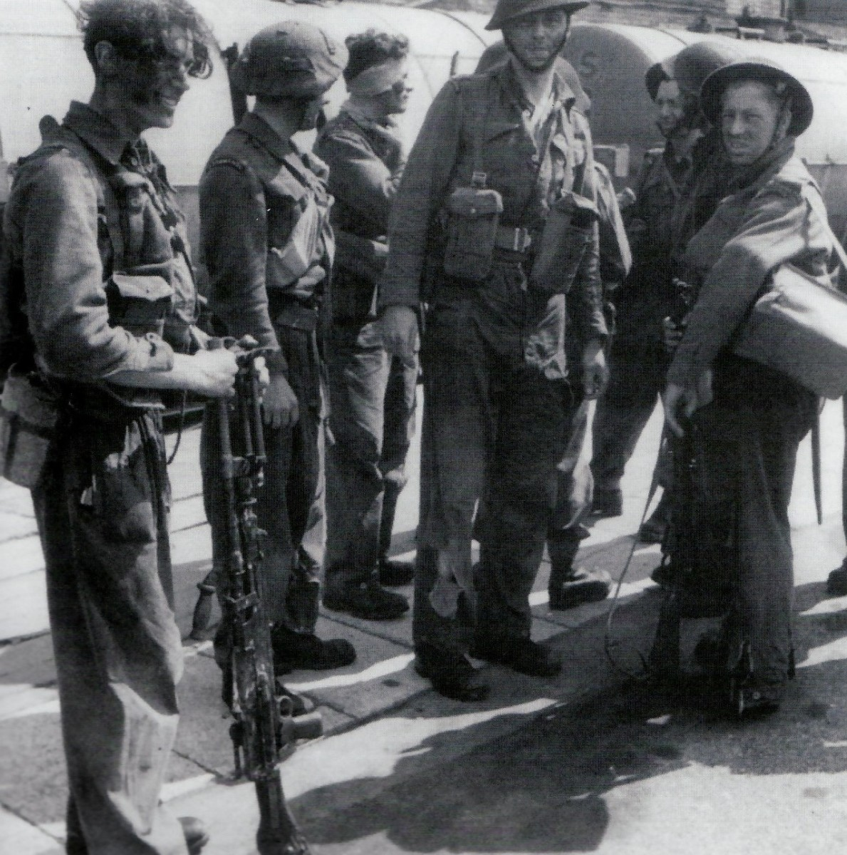 Men of Commander Ian Fleming's No 3 Commando disembark at Newhaven after being transported back from Dieppe