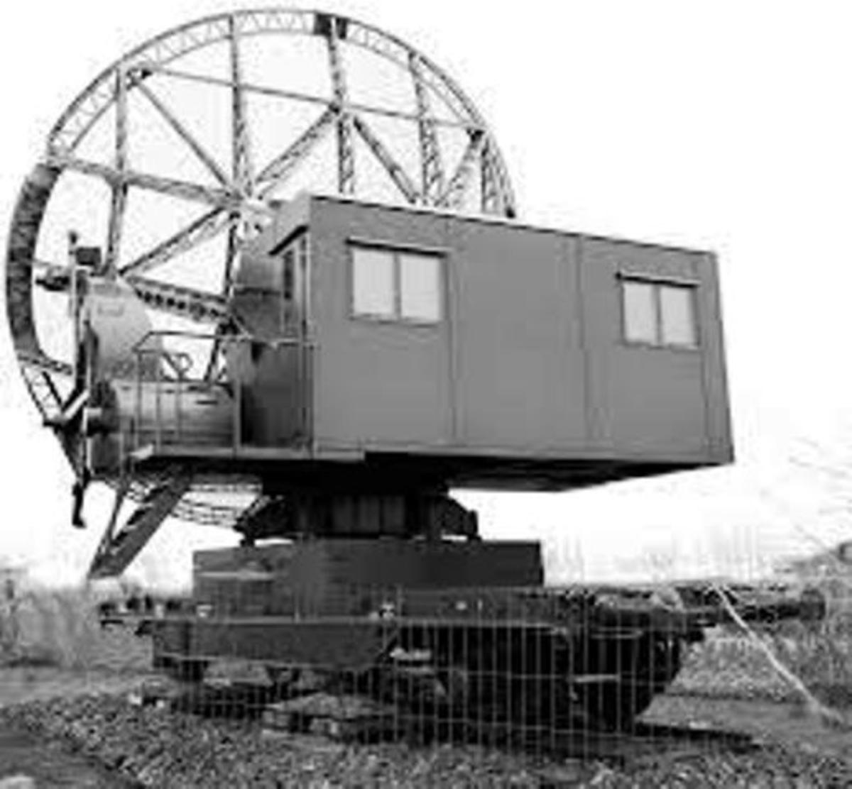 The German Wirzburg radar system that was of interest to British intelligence and technological services - it would be the target of the Bruneval commando raid, at the time of the Dieppe raid
