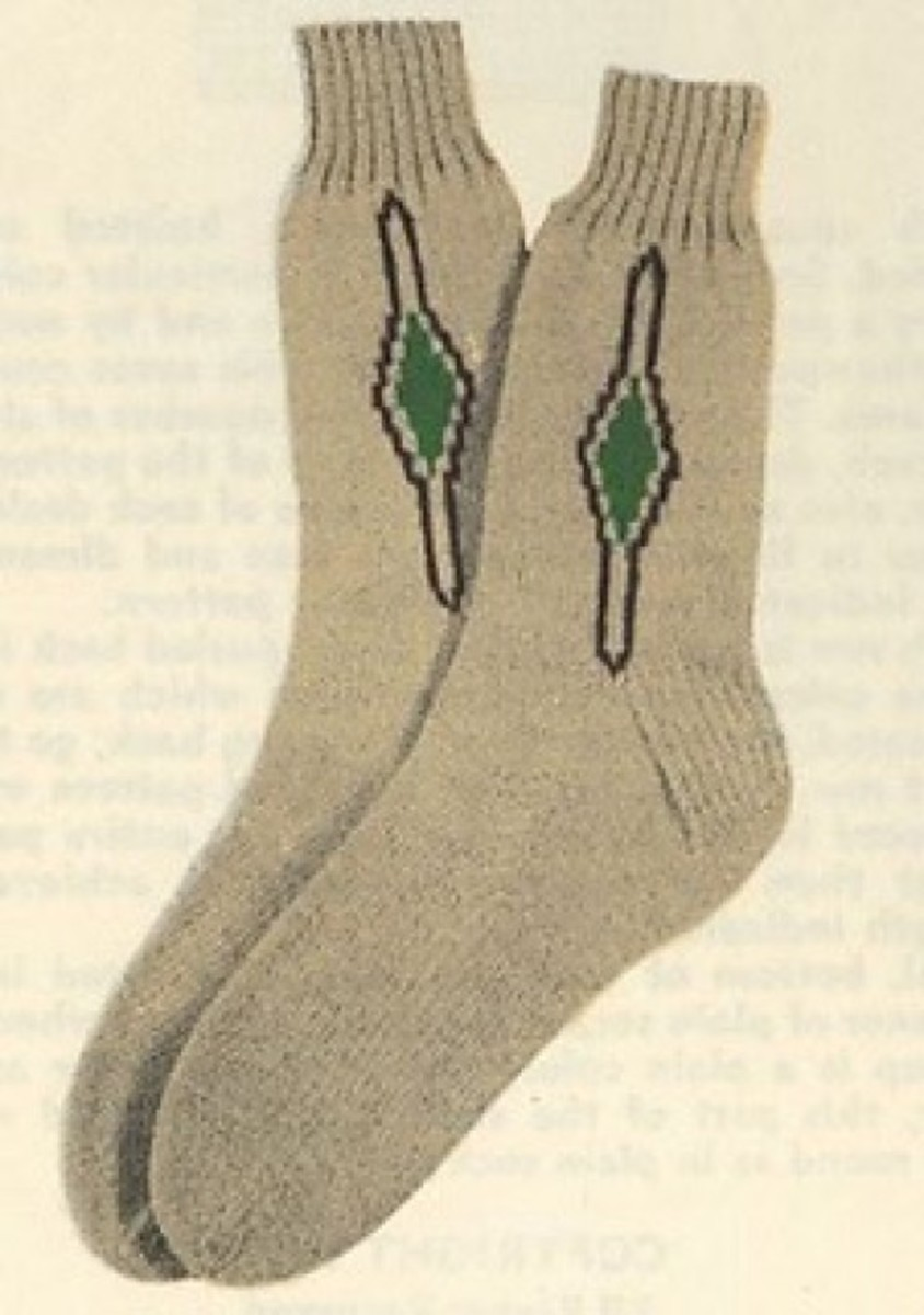 Decoration on the ankle or up the side of a sock was high fashion in the 16th century!