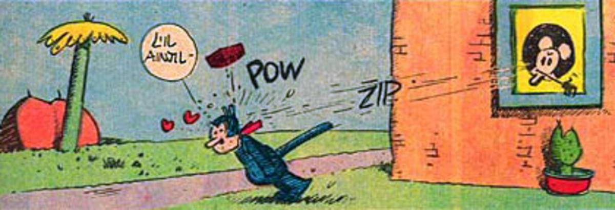 When doing door to door delivery, beware of brick throwing mice.