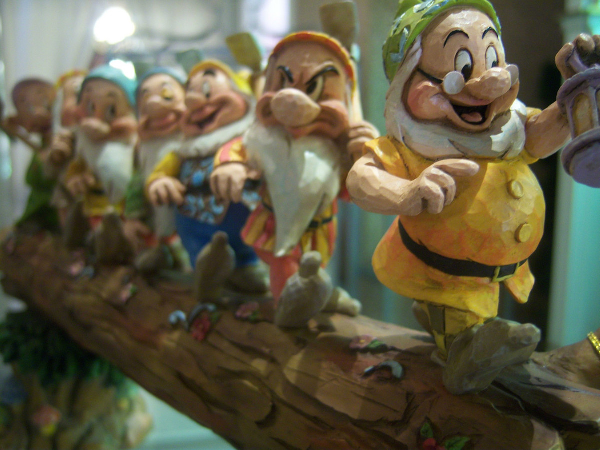 The 7 Dwarfs from Snow White