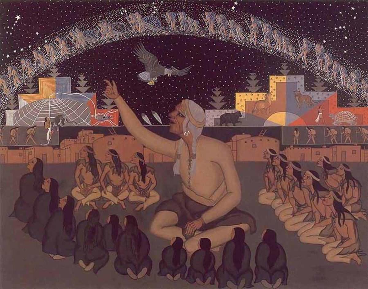 Hopi elders teach their children