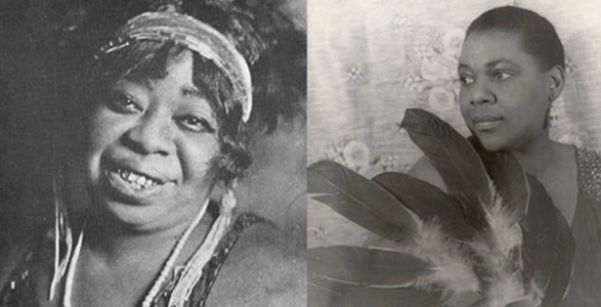 Ma Rainey (left) befriended Bessie Smith (right) and showed her the ways of the music, entertainment industry.