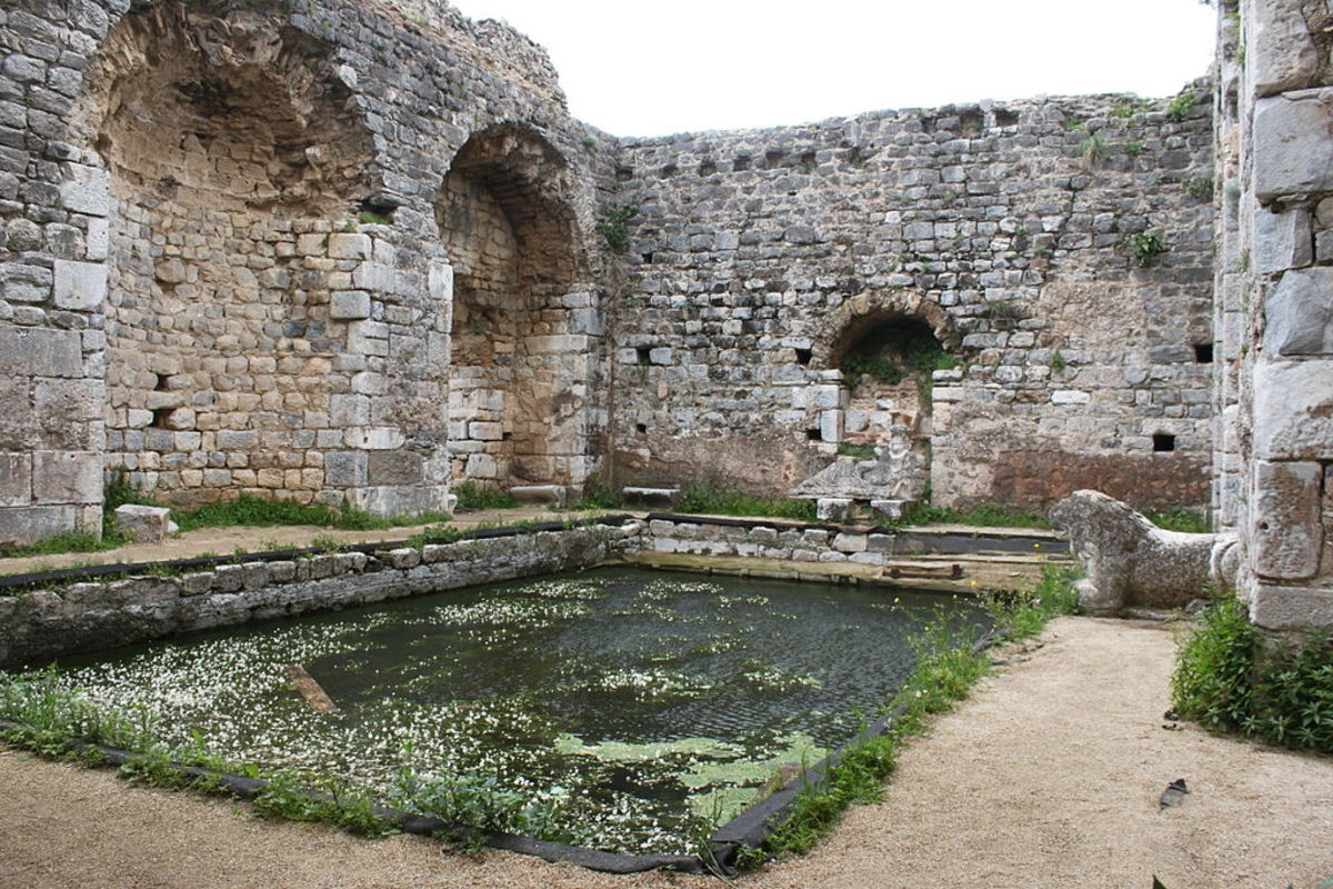 Frigidarium in Milet, Turkey