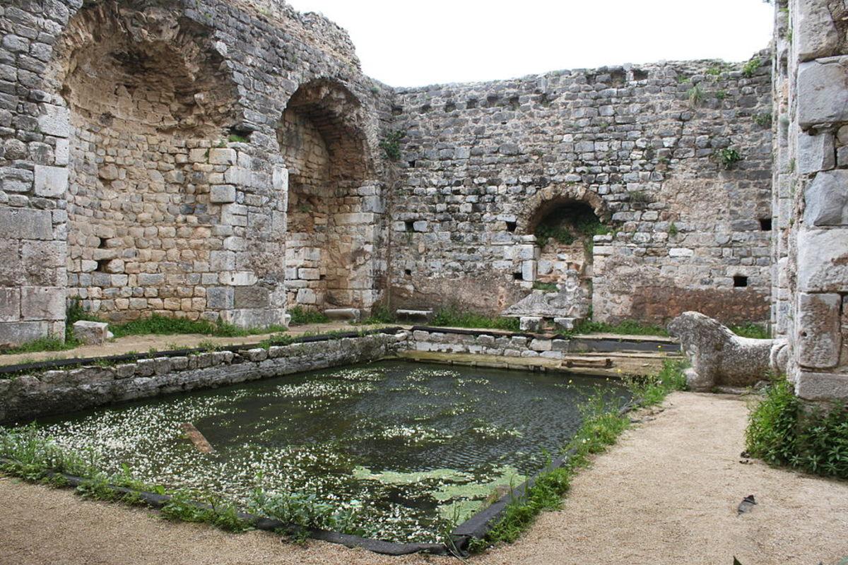 Frigidarium in Milet, Turkey