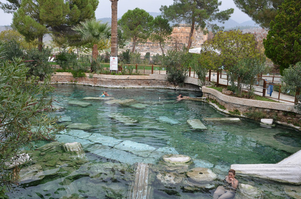 Antique pool in Turkey
