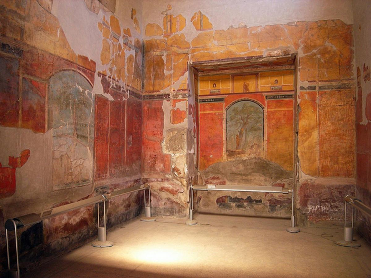 The caldarium in bath ruins