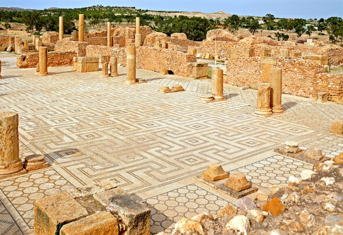 Palaestra in the Great Baths, located in Tunisia