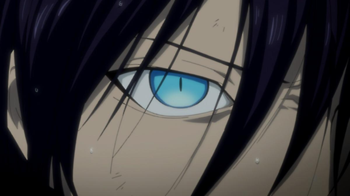 Yato's eyes.