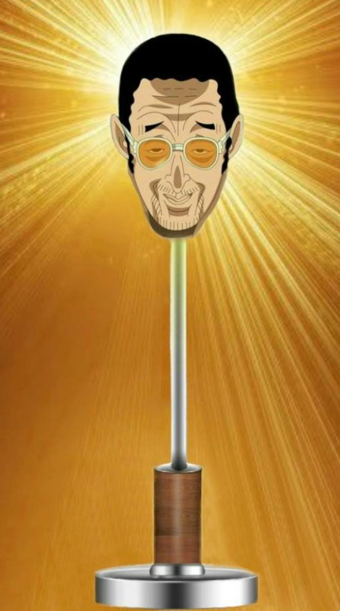 Kizaru as a lamp.