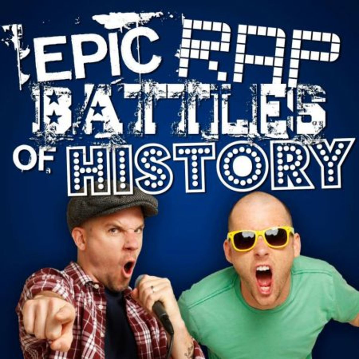 The creators of Epic Rap Battles of History. And the logo.