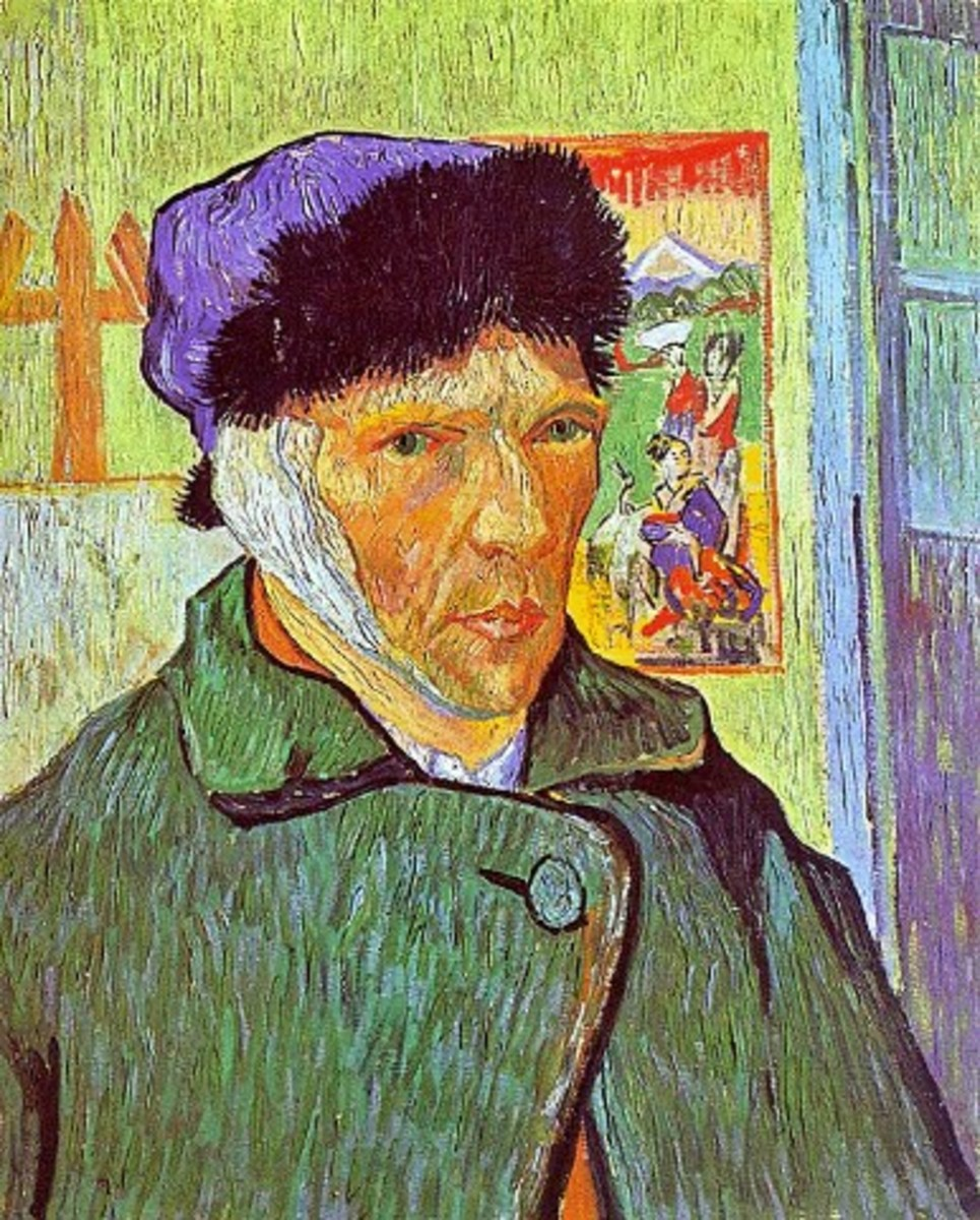 Self portrait by Van Gogh after he cut off his ear