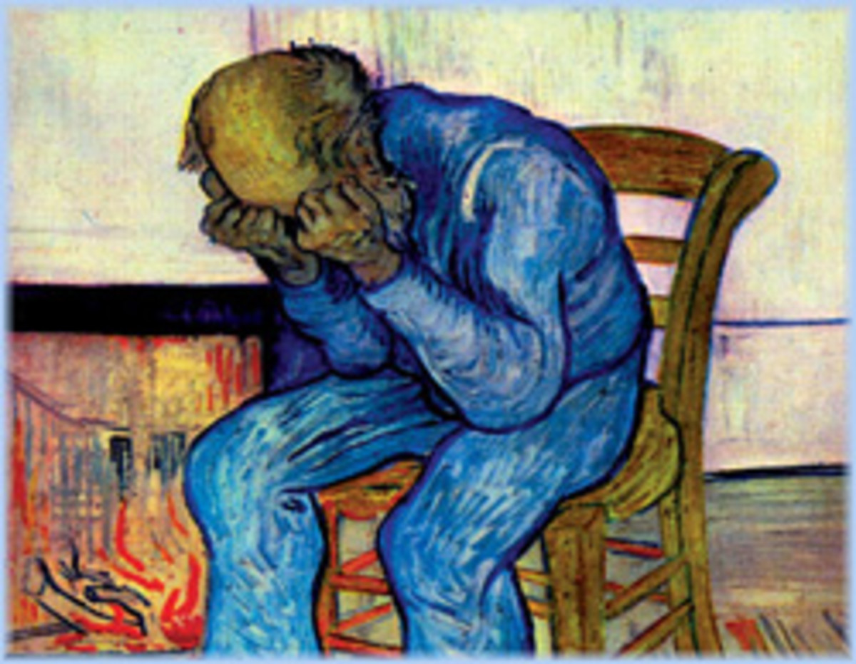 Painting by Van Gogh indicating depression