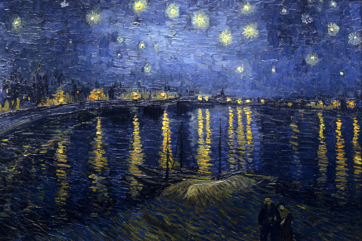 Vincent Van Gogh loved the night sky so much he painted it several times.
