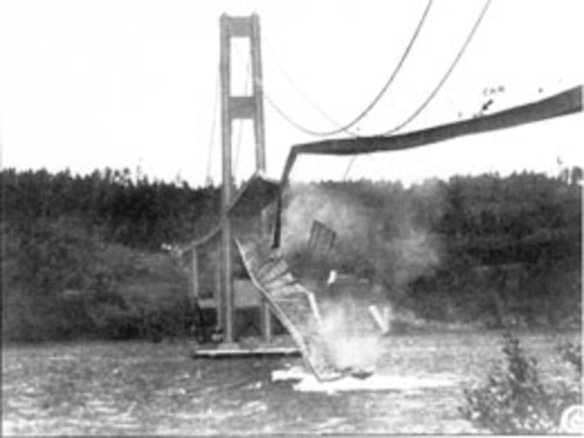 Collapse of the first Narrows Bridge