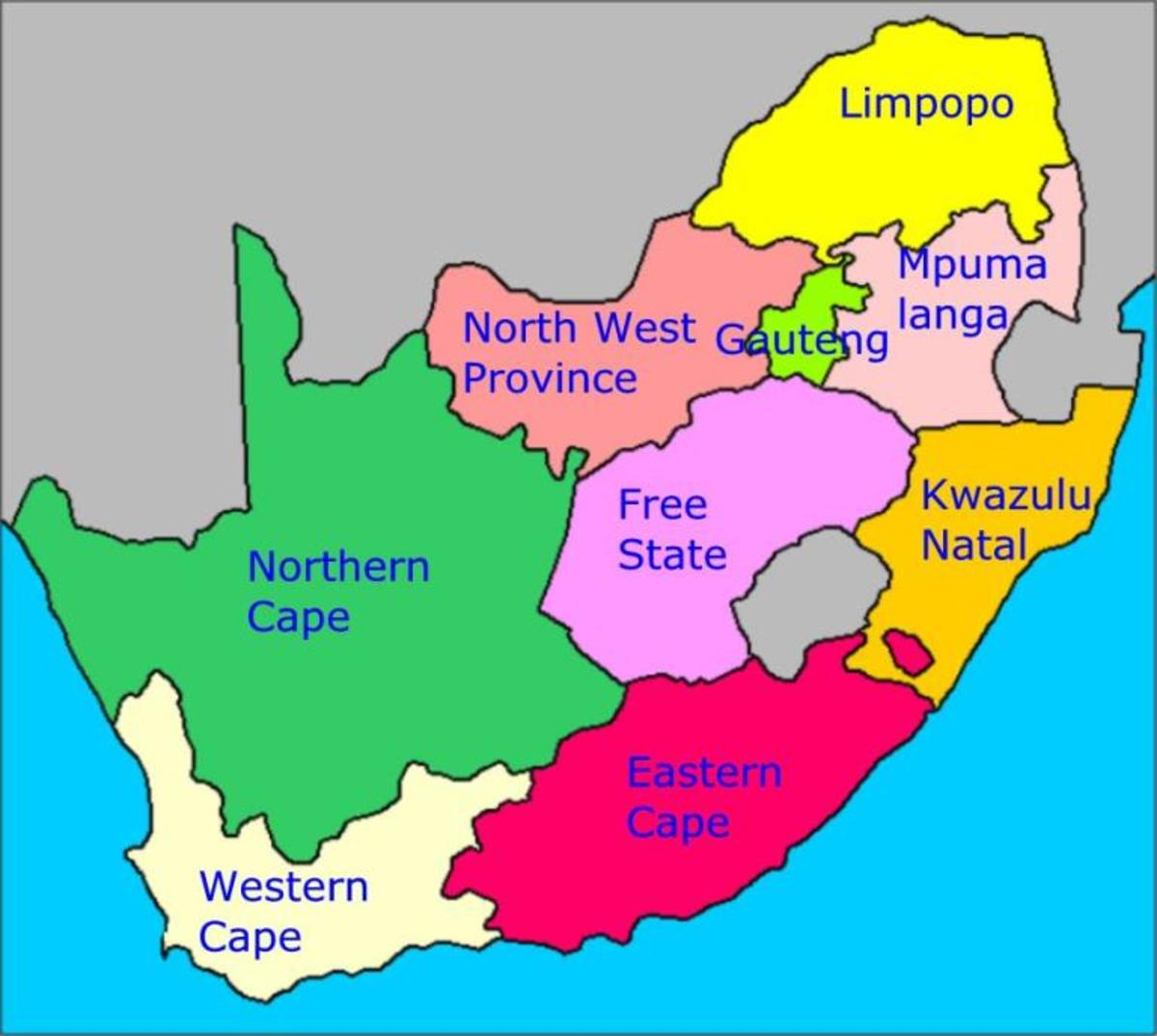 Since 1994 South Africa is a democratic country divided into nine provinces