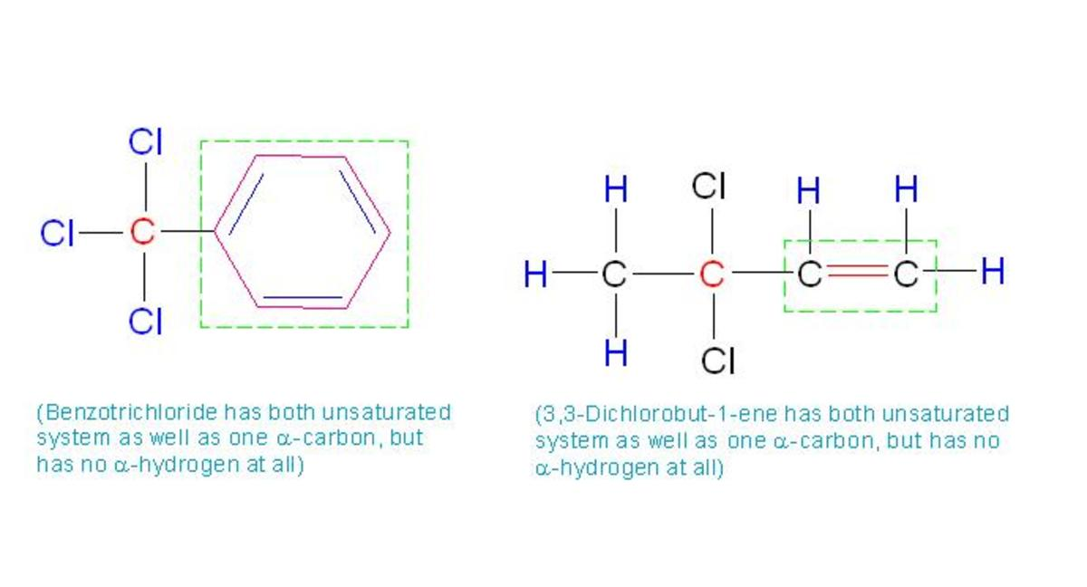 Though both of these species have unsaturated system as well as alpha carbon, they lack in alpha hydrogen.