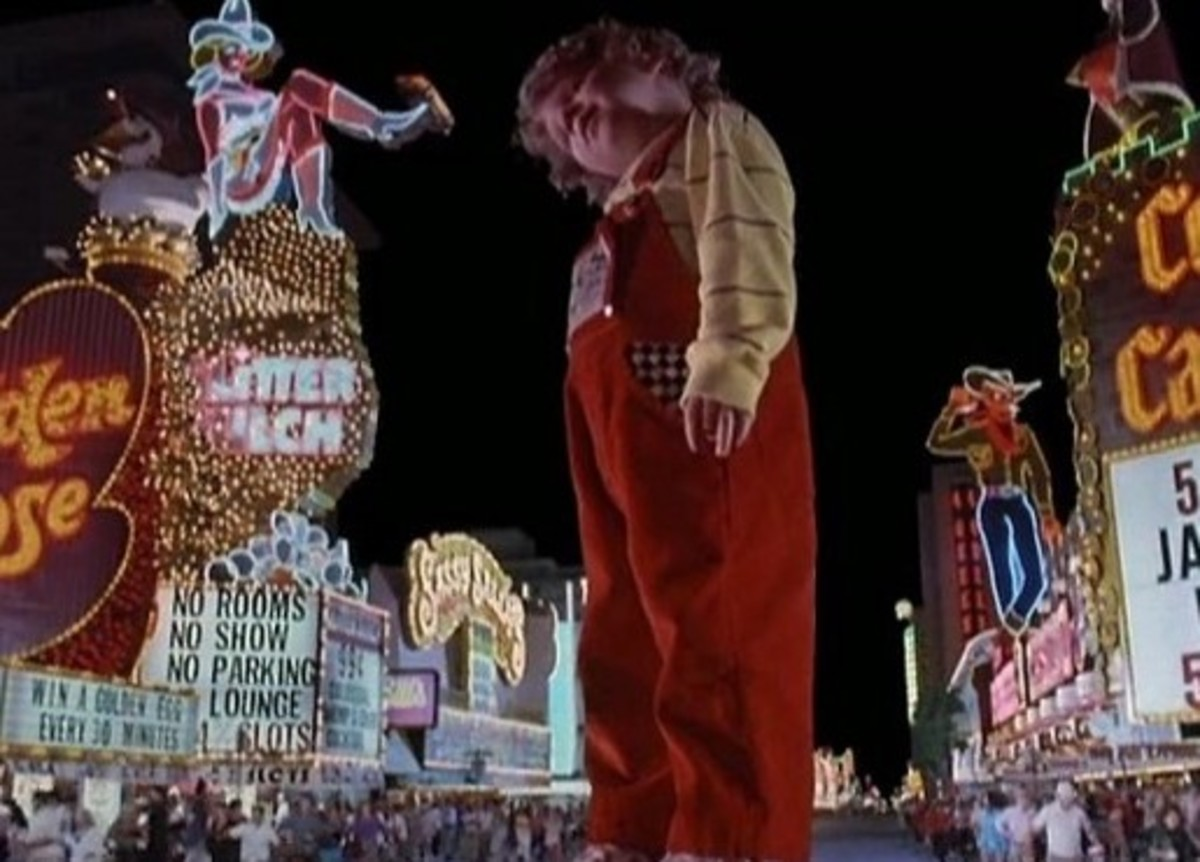 "Baby Szalinski rampages through downtown Las Vegas in ""Honey, I Blew Up The Kid"""