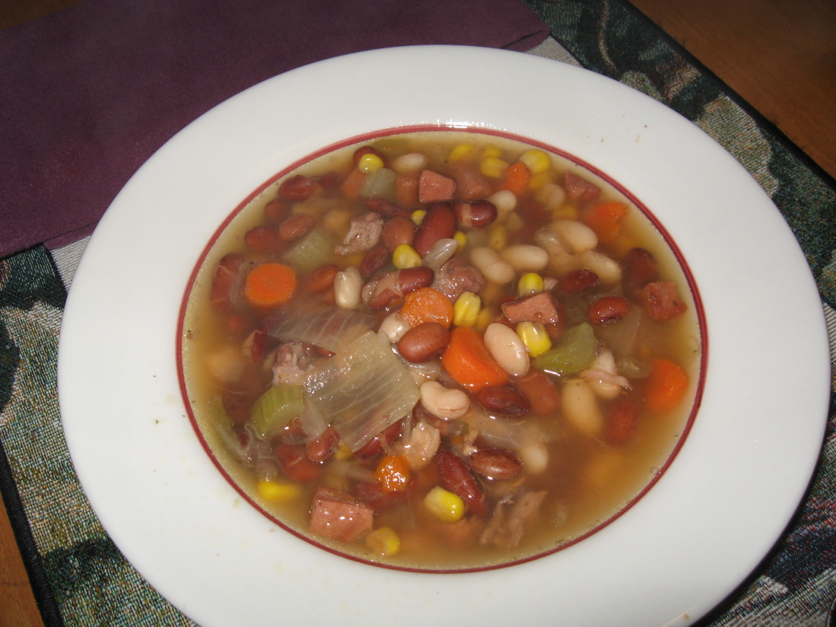 Yummy Ham and 15 Bean Soup
