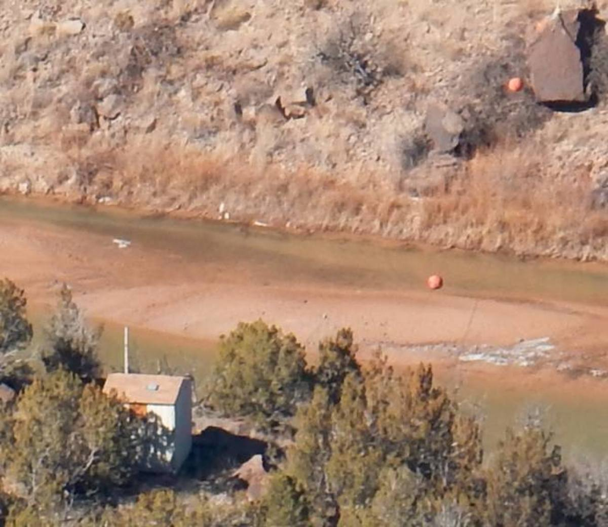 Coordinates 35.781082 -106.205805 Located a mile up river from the Ancho Canyon. We hope this area is searched soon. Unsure if it has been searched yet. UPDATE: Searched and cleared.
