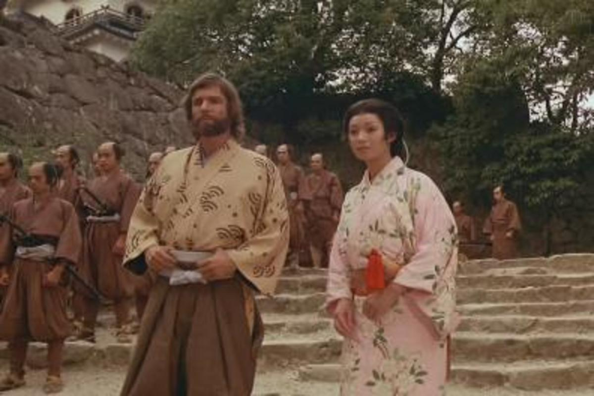 Clavell's Shogun had a lot of interesting characters, like John Blackthorne and Mariko, pictured here.  Gai-jin had none, which is why I didn't include any pictures.