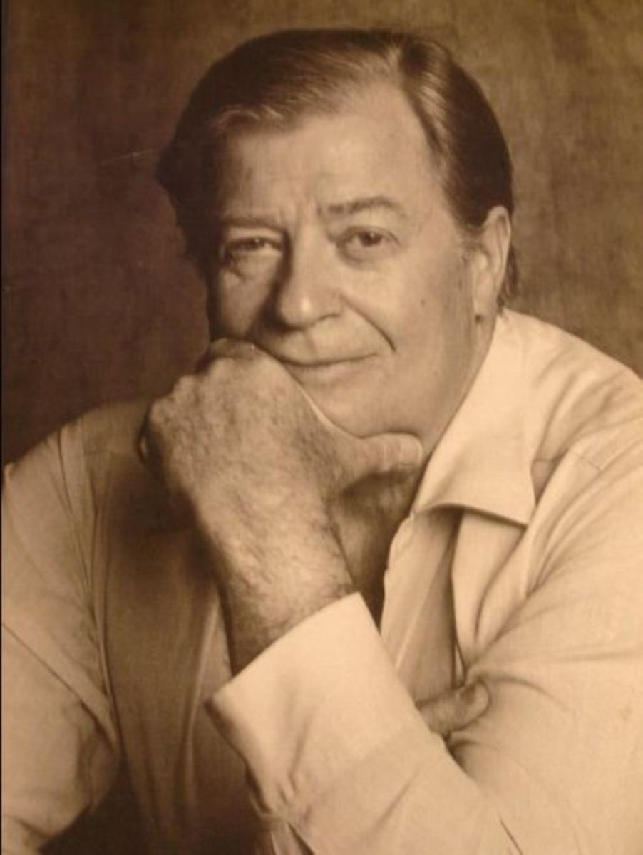 Gai-jin author James Clavell, probably contemplating how many drinking scenes he has to include in Gai-Jin to make his 1,200 page minimum.