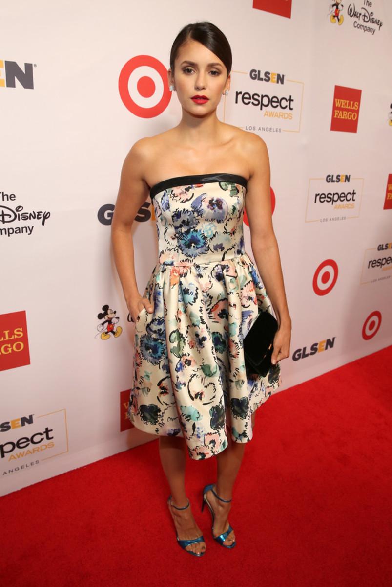 Nina Dobrev is in attendance at the GLSEN Respect Awards in Beverly Hills, California in October 2016.