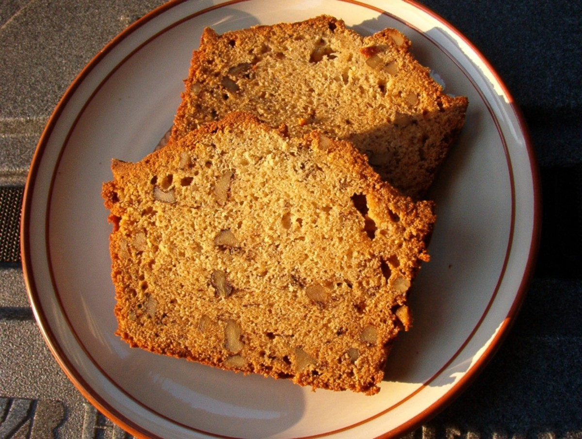 Enjoying the classic flavor of Banana Bread for breakfast is great start to your day. See? Average Jane likes her walnuts coarsely cut as well