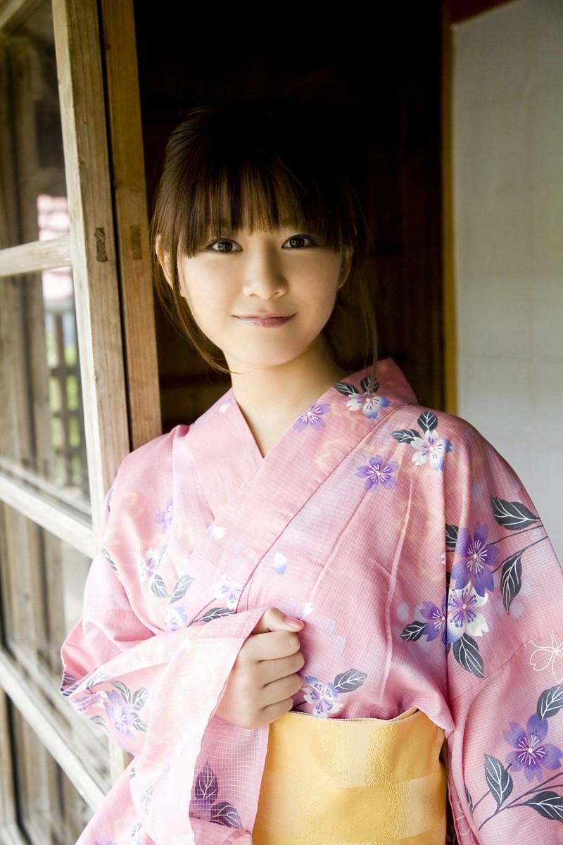 Natsumi Kamata seen here dressed in a kimono.