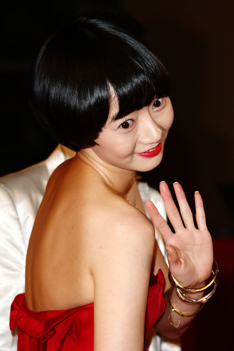Bae Doo Na waves to supporters during the Cannes Film Festival in Paris, France.