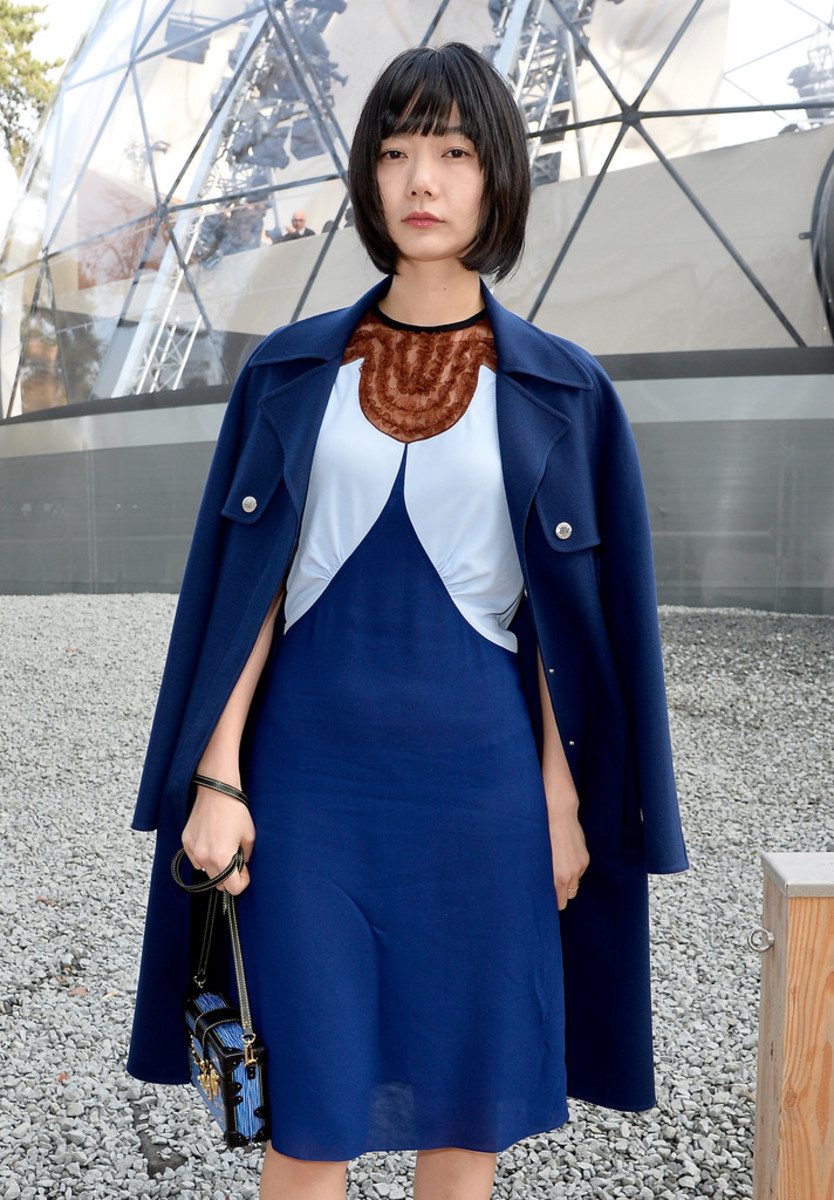 South Korean actress Bae Doo Na in Paris, France during an event for Louis Vuitton (March 2015).