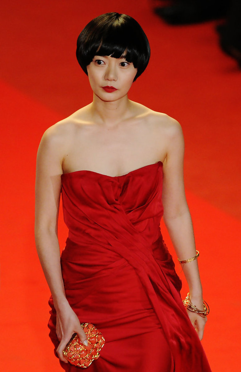 Bae Doo Na at the premiere for the movie Air Doll during the Cannes International Film Festival (2009).