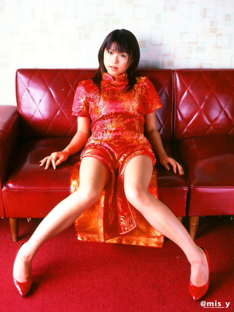 As the name of this photo session implies, Nana Kasai is dressed in a style that would be like how a member of the group AKB48 would dress. It is either a dress like this or a traditional style school uniform which also defines the culture.