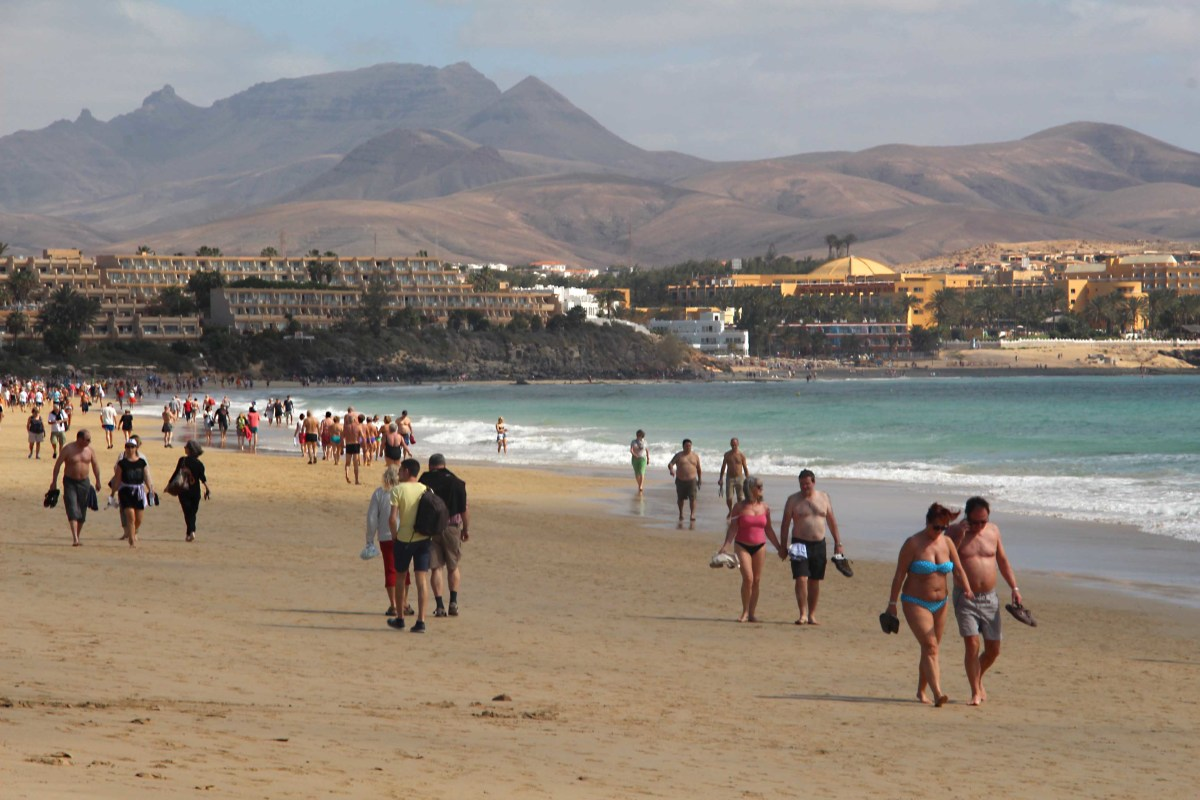 The southeastern beach of Costa Calma