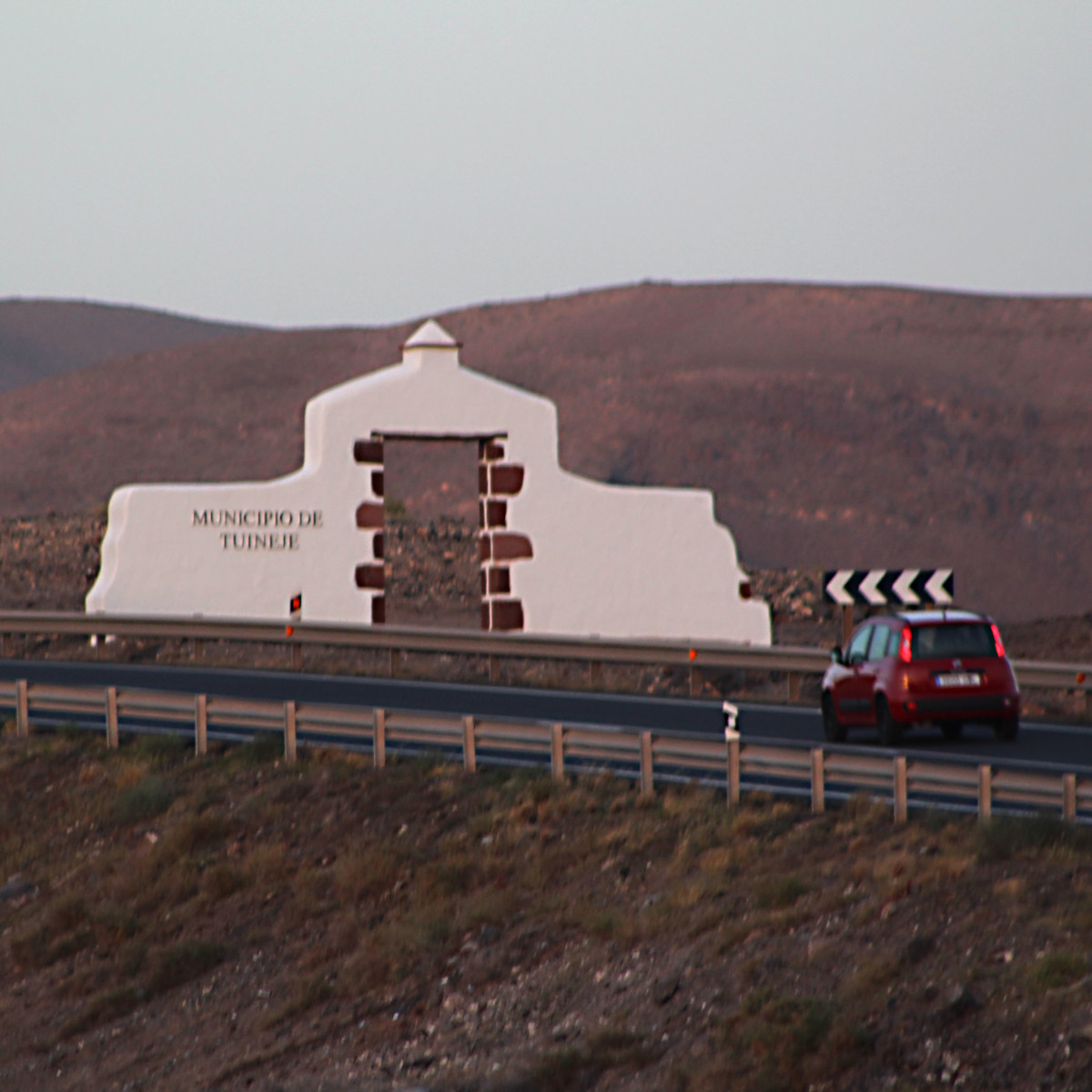 Fuerteventura comprises six administrative municipalities, and as one passes from one municipality to another, the border is marked by one of these monumental signposts