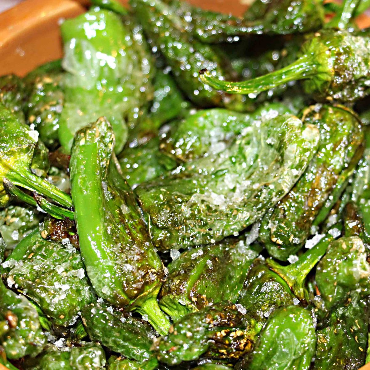 A local Canarian dish - Pimento del Padron (salted sweet peppers) which I always order when visiting any of the Canary islands. Even though I'm not vegetarian, I love it!