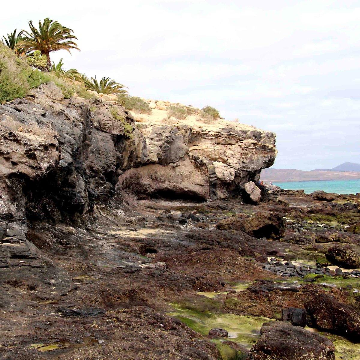 A rocky outcrop at Costa Calma