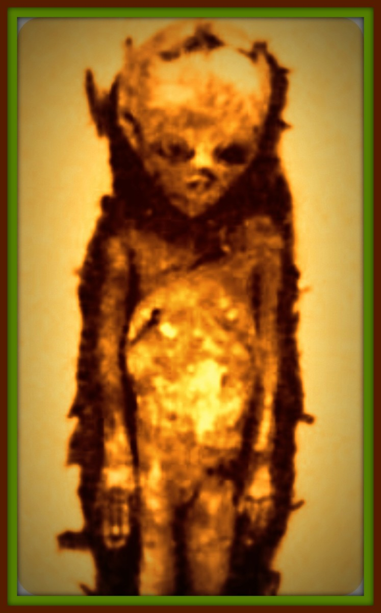 """Inside the caves were found burials apparently very ancient, arranged in an orderly manner with the skeletal remains of human beings from """"strange"""" aspect."""