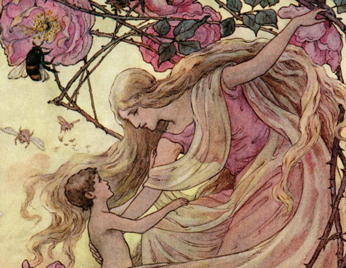 Here we show a portion of 'The Rose greets the Child' - it is from the suite prepared by Frank C Pape published in ''The Story Without An End'' (1912).
