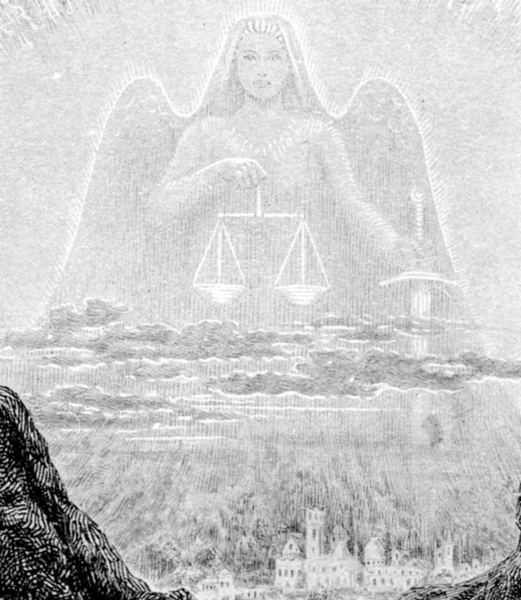 """Here we show a portion of 'My eyes ... will have beheld the dawn of the day of Justice' - it is from the suite prepared by Frank C Pape published in """"The Well of St Clare"""" (1928)."""